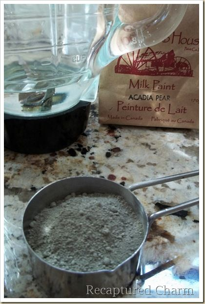 How to make milk paint to use when refinishing old ...