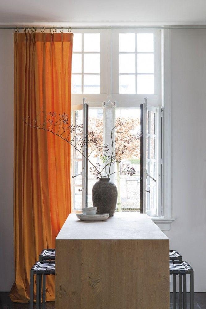 marrakech overgordijn gordijnen raamdecoratie oranje rideau rideaux maroc