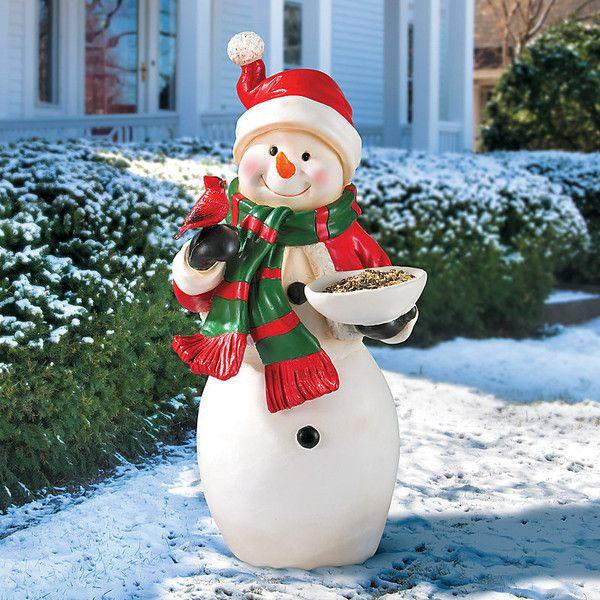 Improvements Snowman Birdfeeder Outdoor Christmas Decoration (2040