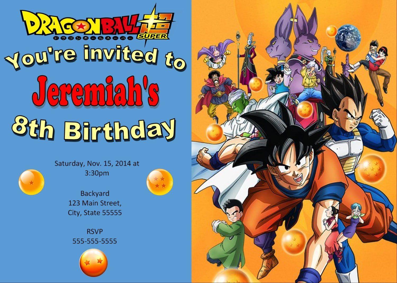 Dragonball Z Invitation Dragonball Birthday E10261624441774813m Dragon Ball Z Dragon Ball Boy Birthday Invitations