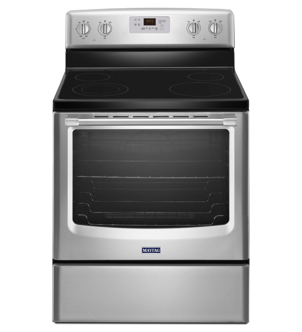 Electric Freestanding Range with Stainless Steel Handles