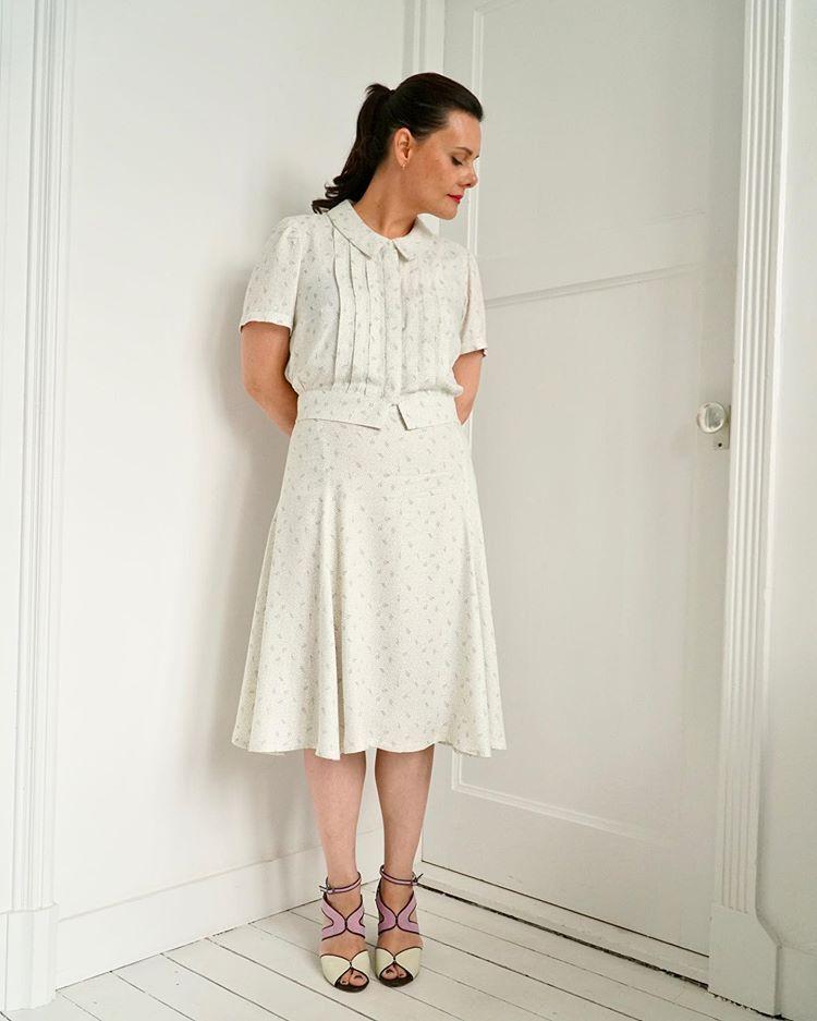 Retro Handmade Dress Handmade Dresses Crepe Fabric Dresses