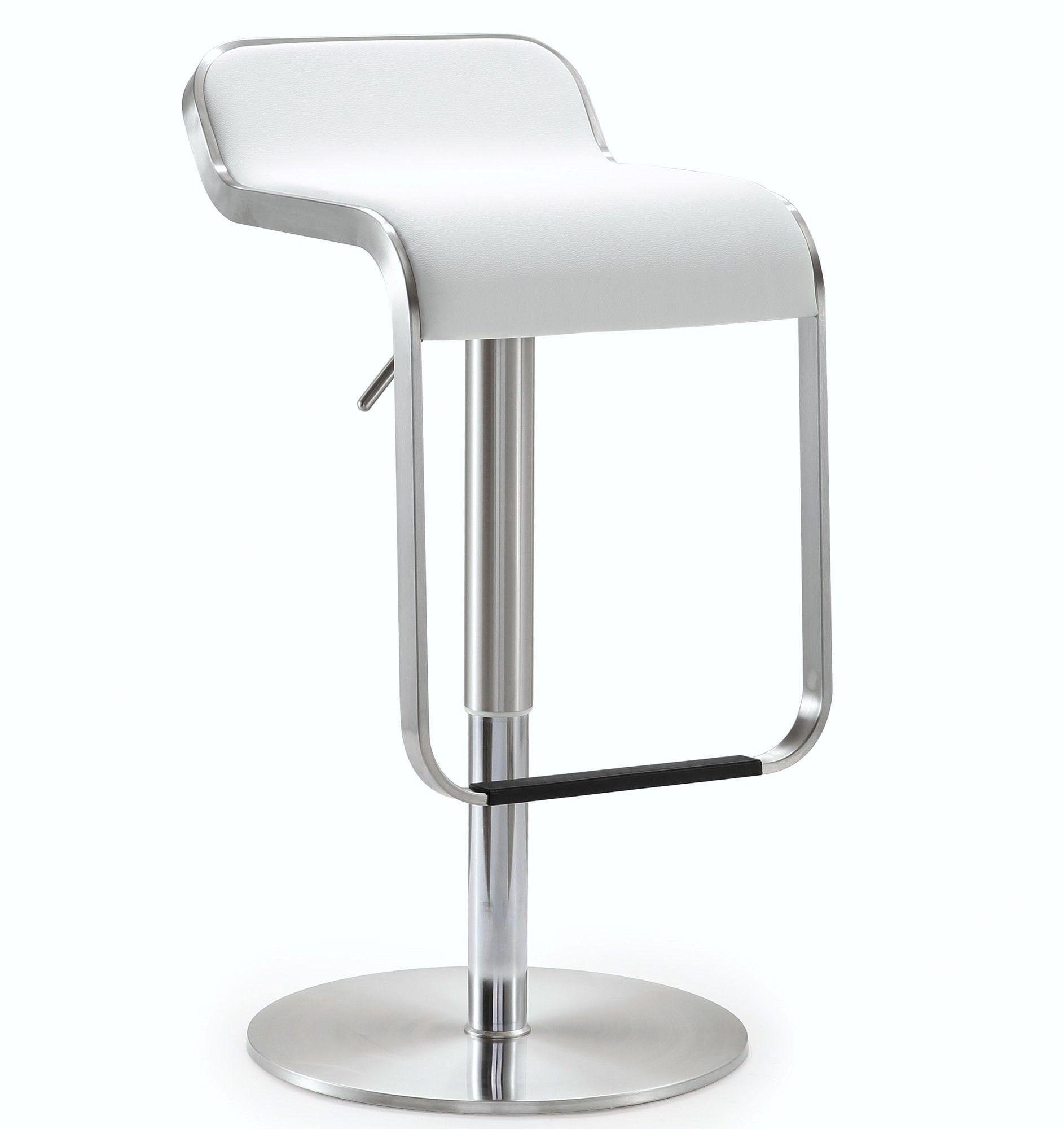 Tov Napoli Adjustable Height Swivel Bar Stool With Cushion Ruang Makan