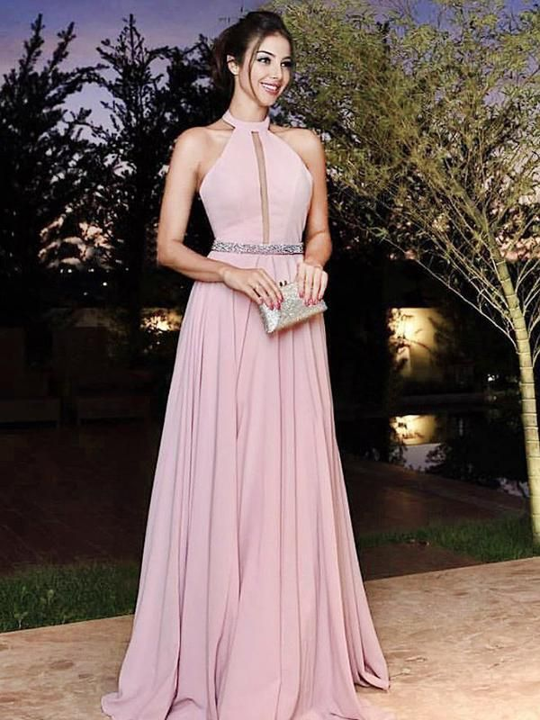 d643ed0f092d Chic A Line Prom Dress Modest Cheap Long Chiffon Simple Prom Dress  VB1590