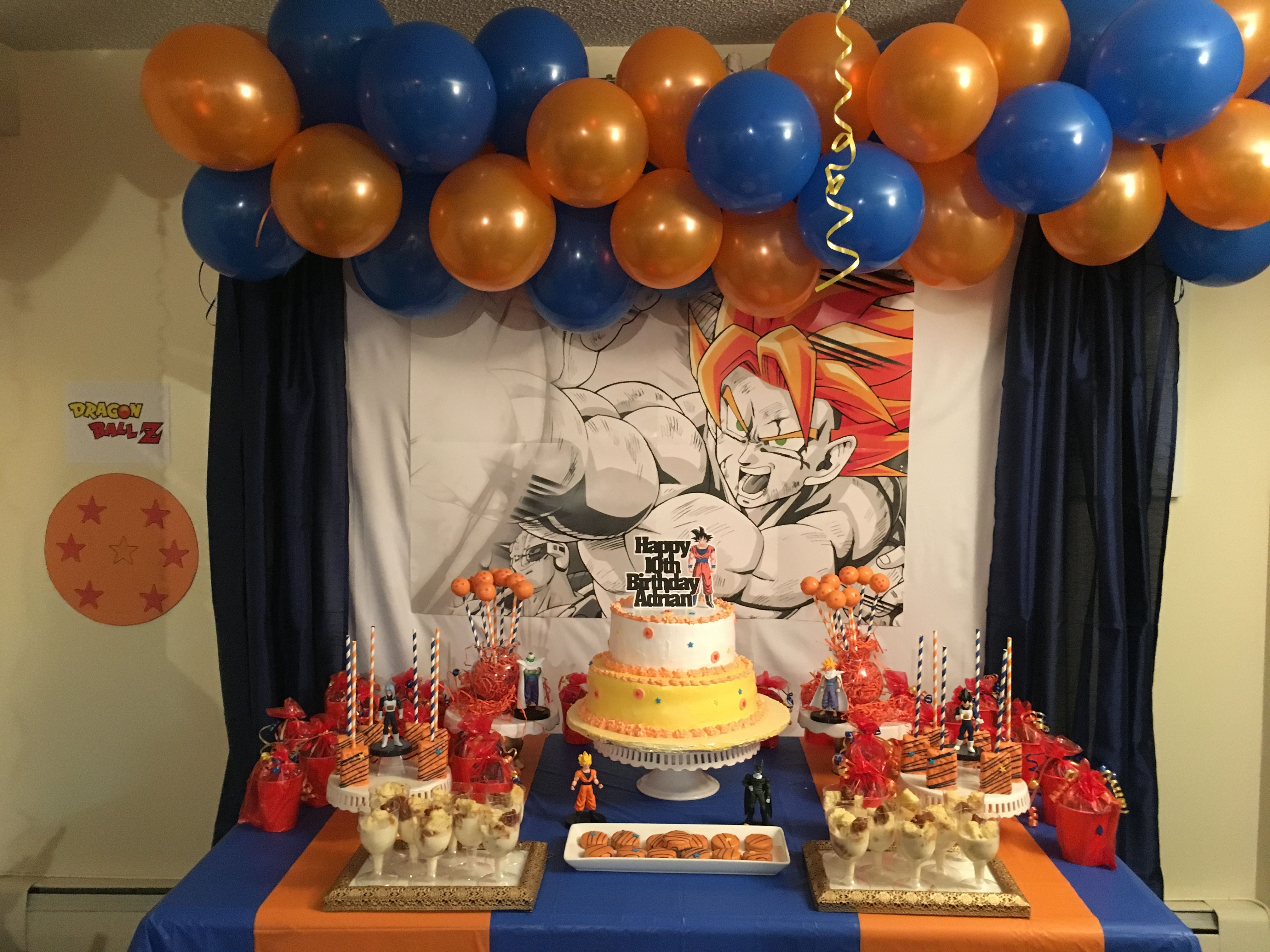 Dragon Ball Z Birthday Party Cake Smash Pictures Dragon Ball Z Birthday Party Dragon Birthday