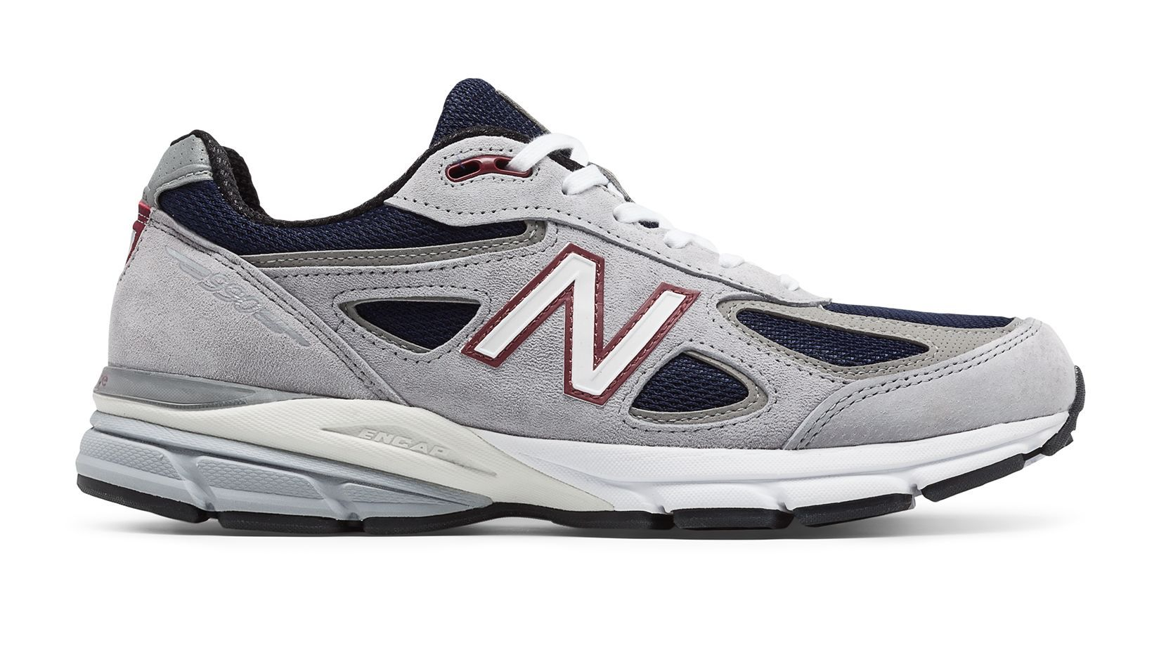 half off 08d1d b3754 New Balance 990v4, Grey with Navy | New Balance 990v4 | New ...