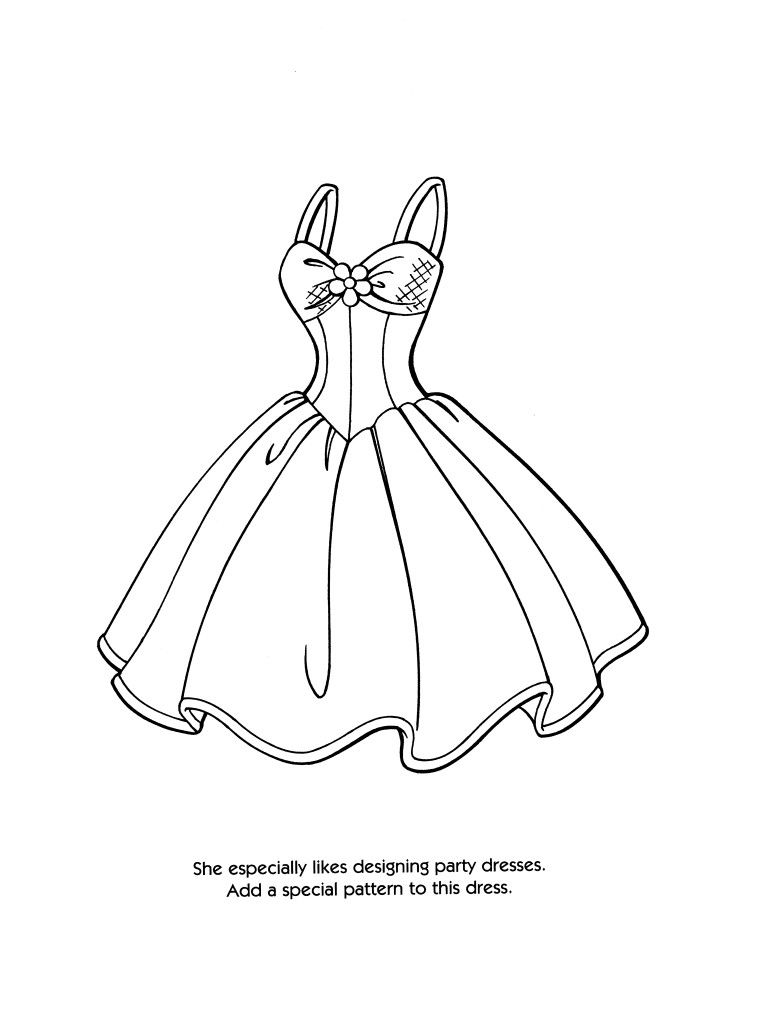 Kids Fashion Barbie Coloring Pages Fashion Coloring Book