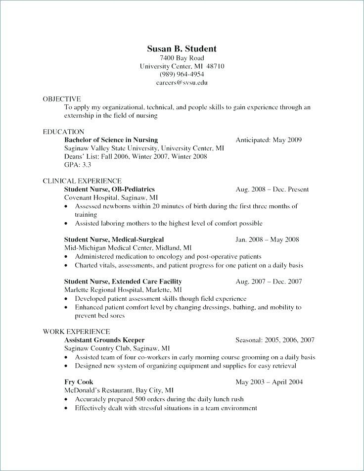ob nurse resume student nurse resume sample resume for