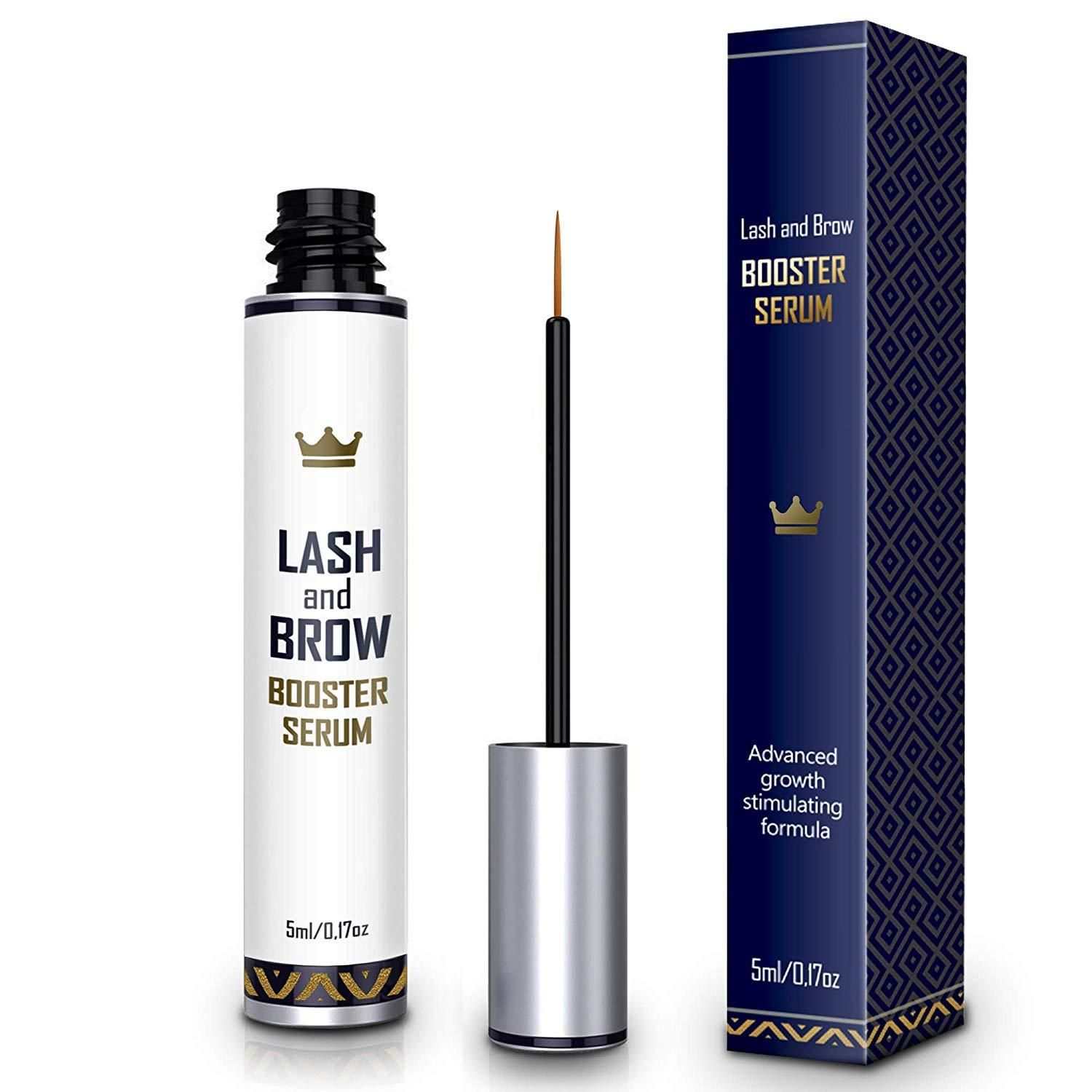 f0a2121ef60 Natural Lash Growth Serum - USA Made Eyebrow Growth Enhancer - Eyelash  Booster to Grow Longer Eyelashes - Lash Boost & Brow Enhancing Serum