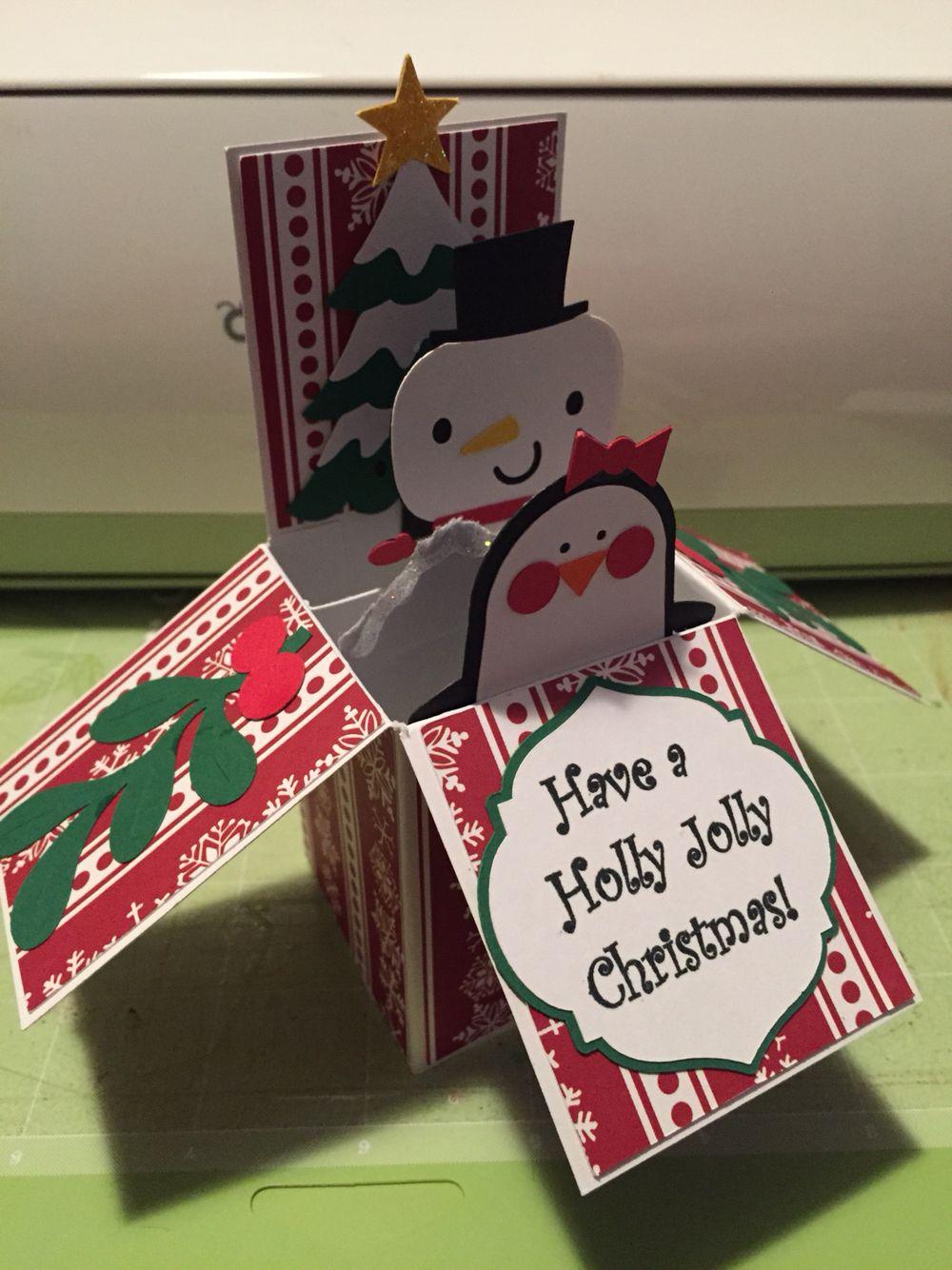 Cricut Christmas card Create a Critter 2 box card   The Cricut Chirp ...