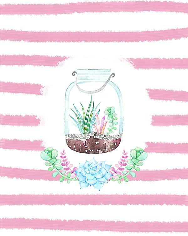 free mason jar printables with succulents karima pinterest project life cr er une carte. Black Bedroom Furniture Sets. Home Design Ideas