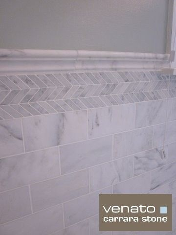 7sf Carrara Marble Subway Tile Traditional Es New York The Builder Depot
