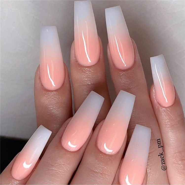Stunning And Gorgeous Summer Coffin Acrylic Nail Designs For Your Inspiration Summer Coffin Acry Summer Acrylic Nails Ombre Acrylic Nails Pretty Acrylic Nails