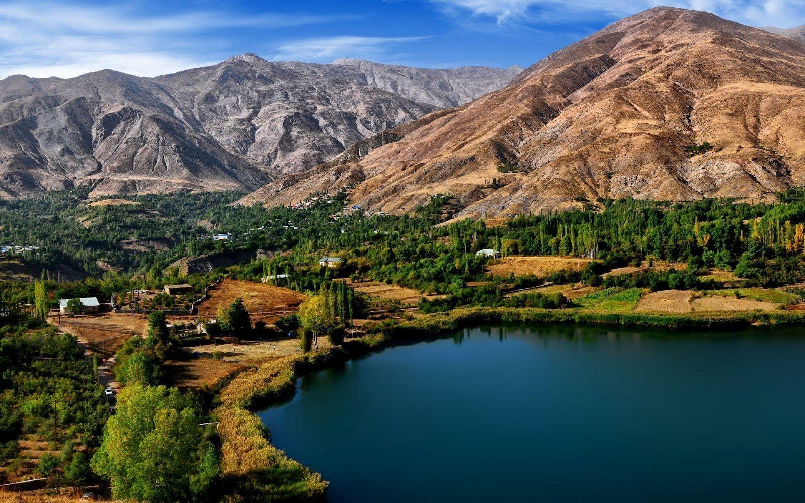 Conozca usted el hermoso Lago Ovan en la ciudad de Irán