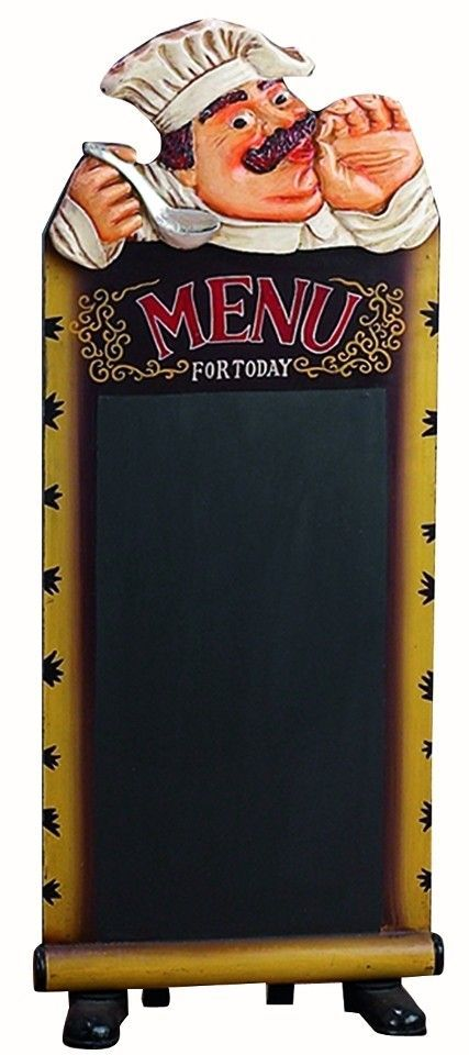 Large Chef Statue Figurine Menu Chalkboard Kitchen Bar Accent D |lamp |  Lighting, Furniture
