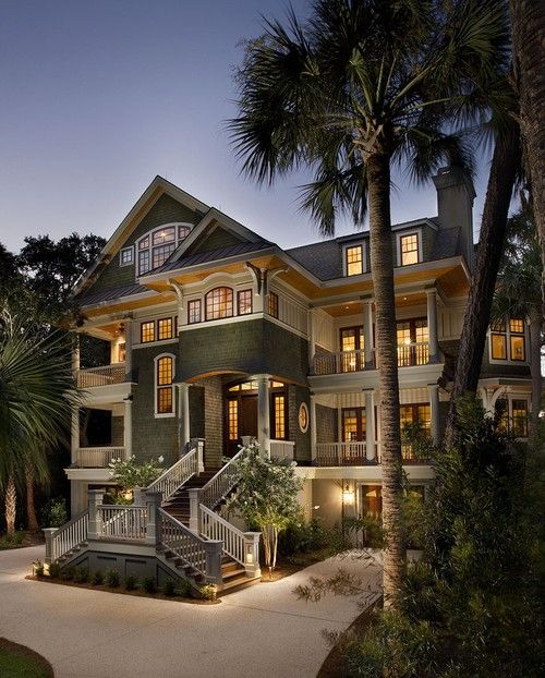 Extravagant Homes South Carolina Beach Houses Mansions My Dream Home
