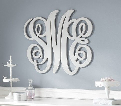 Style & Quantity | Pottery Barn Kids Harper style monogram in pink for above Addie's bed