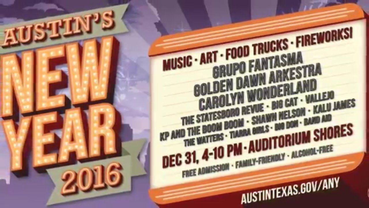 Austin's New Year Celebration (ANY) 2016 timelapse