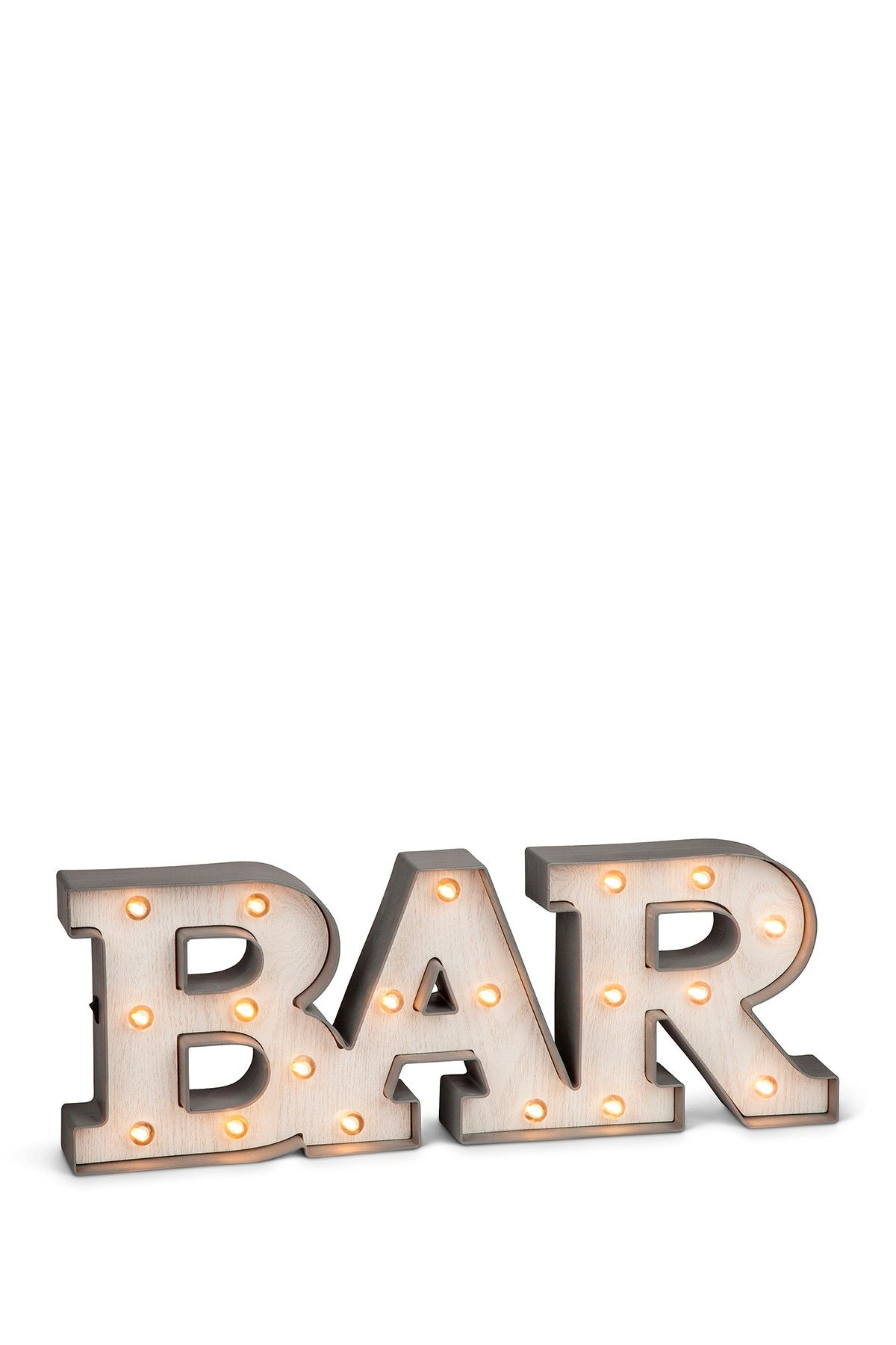 LED Lighted Grey BAR Sign by Gerson Company on @HauteLook | For the ...