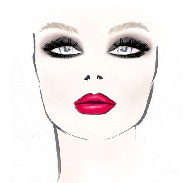 Boceto de maquillaje de Gordon para el Mercedes Benz Fashion Week. #MBFW 2013