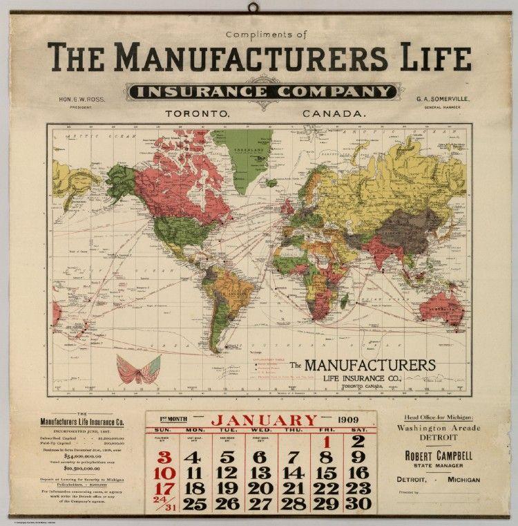 Vintage Infodesign [19   Life insurance companies