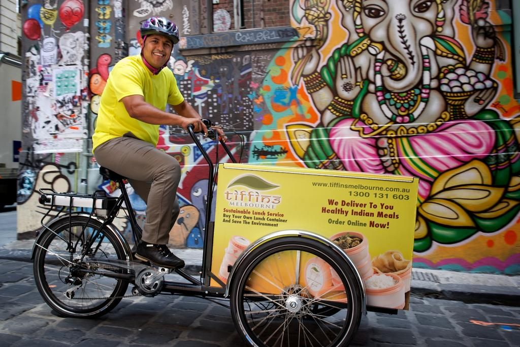 Trike For Tiffins Indian Food Food Delivery Bike Bicycle Lunch
