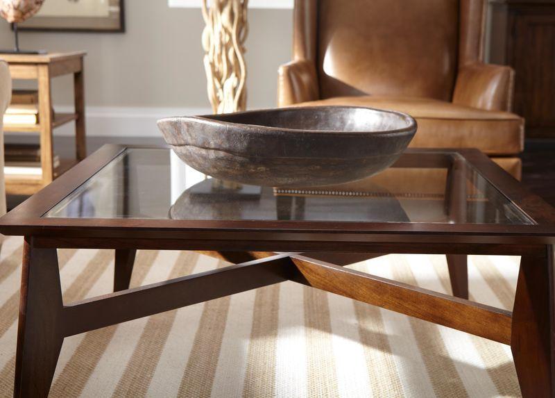 trevor glass top coffee table dark wood bowl glass top on stunning wooden metal coffee table id=49247
