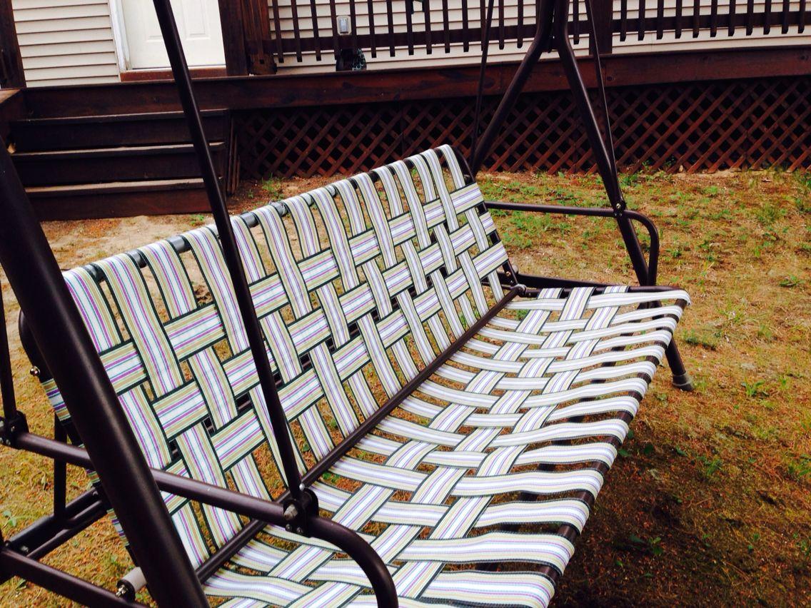 Rewebbed Swing Patio Swing Garden Chairs Metal Pallet Furniture Outdoor
