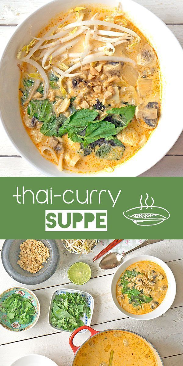 Photo of Thai curry soup with coconut milk & rice noodles – Madame Cuisin …