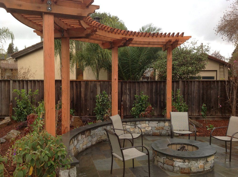 Solid Rock Fire Pit With Arbor Willow Glen San Jose
