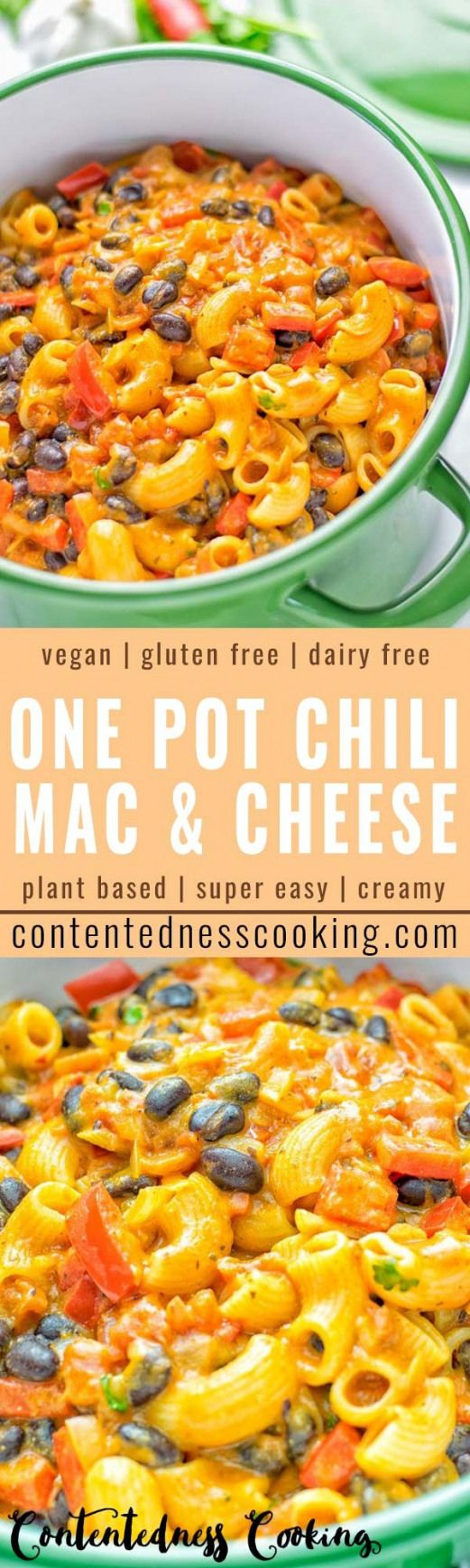 Your favorite recipe source for healthy food [Paleo, Vegan, Gluten free] This One Pot Chili Mac & Cheese is super easy to make. Its insanely creamy vegan gluten free and ready in 20 minutes on the table. If youre looking for easy one pot meals that the whole family will love try it now and learn how easy meal preparation dinner lunch work lunches and more can be.
