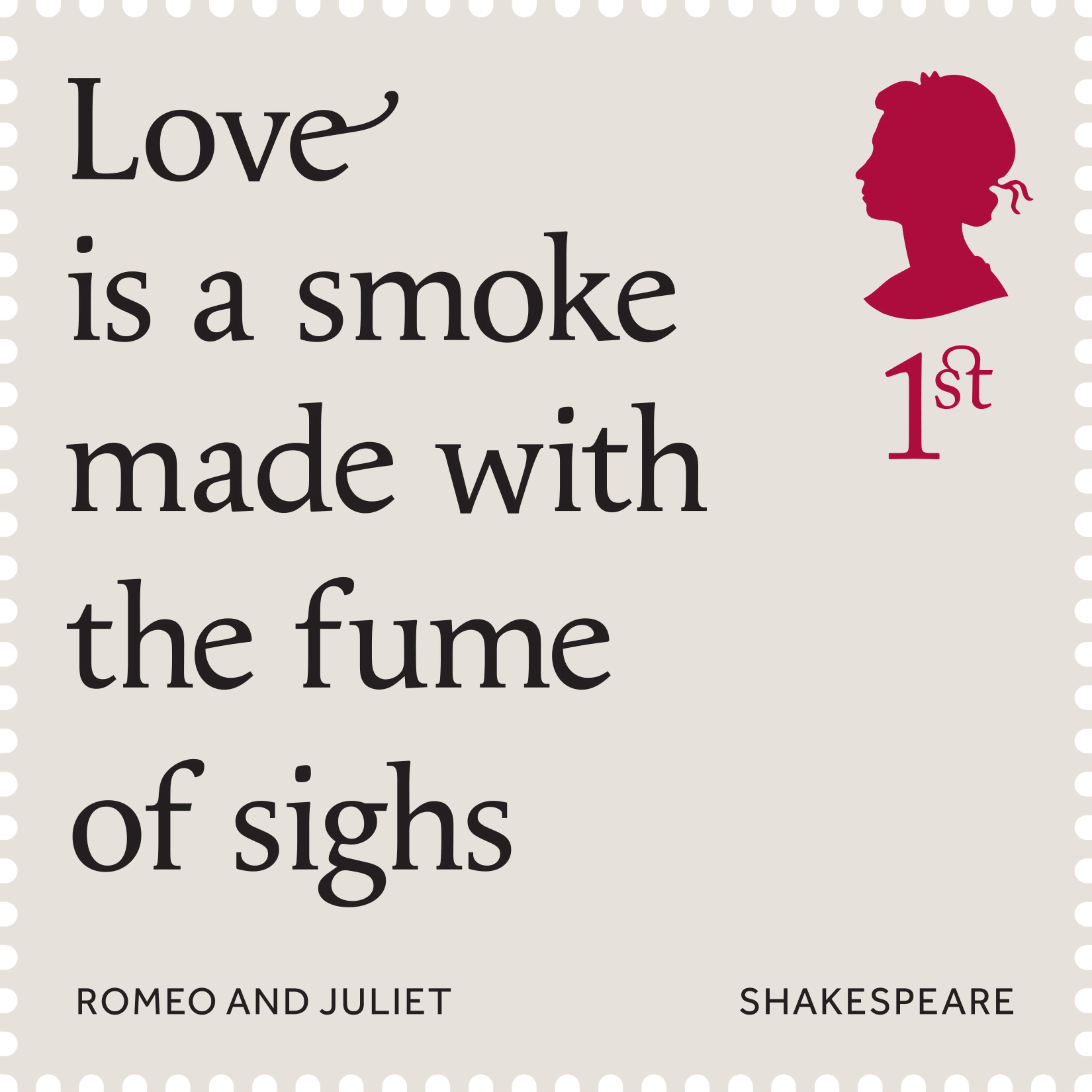 Shakespeare 1st Stamp 2016 Romeo And Juliet 1595 96 Act 1 Scene Literary Quote Quotes Meaning Of Sonnet 61