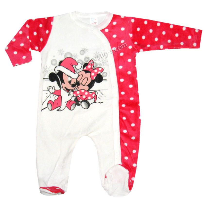 Baby Strampler Overall Jungen Langarm Baumwolle Winter Wei/ß Weihnachten Mickey Mouse