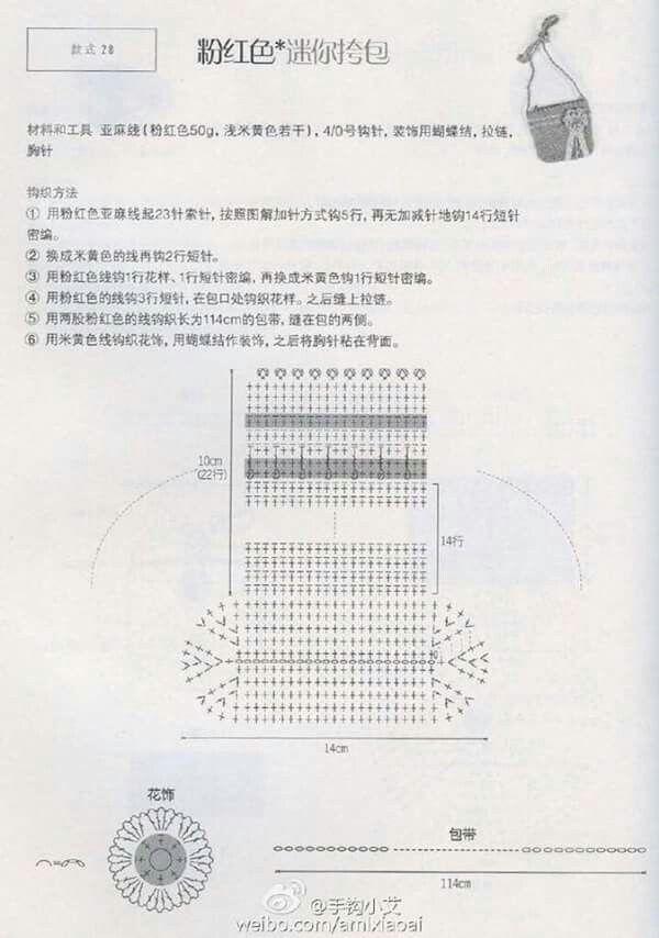 Crochet purse | Crochet diagram | Pinterest