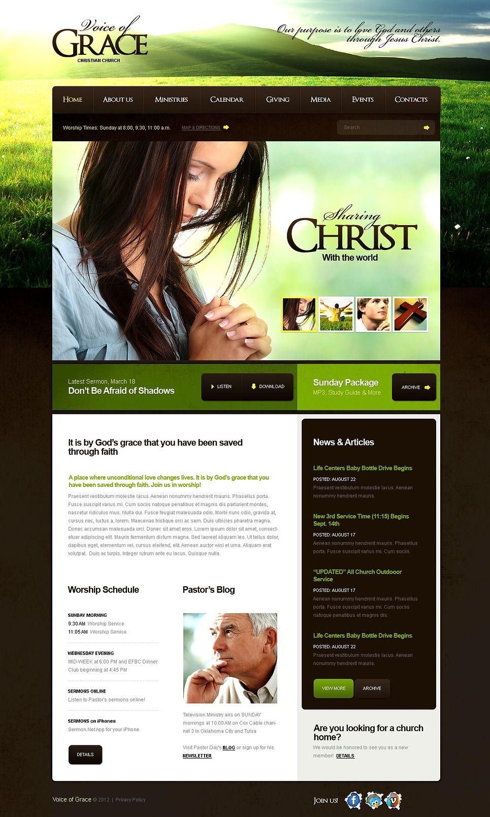 Christian Facebook Html Cms Template 43949 Website Template Templates Business Icons Design