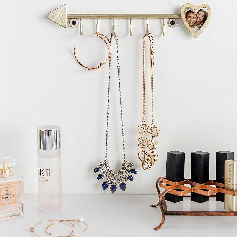 Amazoncom MyGift 6Hook Arrow Design WallMounted Jewelry Hanger