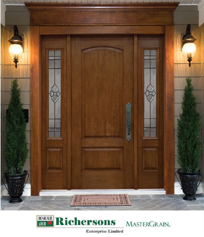 Mastergrain Fiberglass Door With Custom Sidelights And