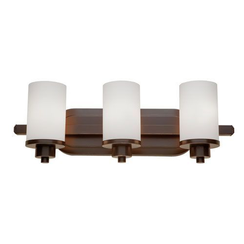 Photo of Artcraft Parkdale Three light oil rubbed bronze armature Ac1303wh   Bellacor