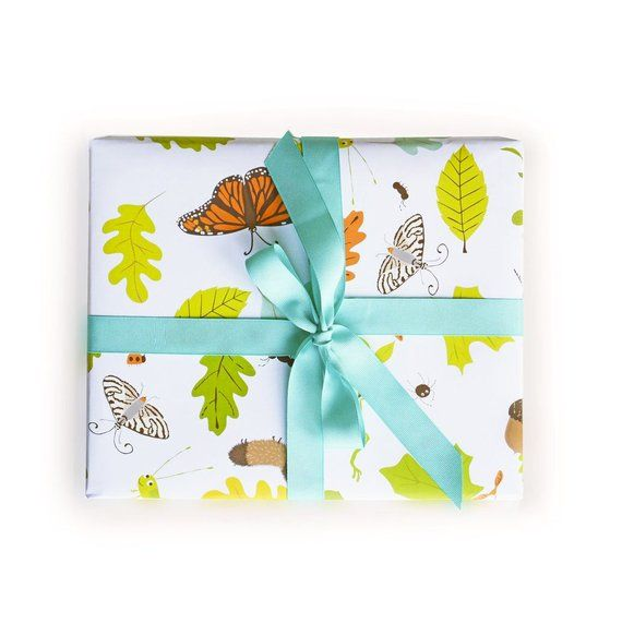 Wrapping Paper Forest Bugs Critters Gift Wrap