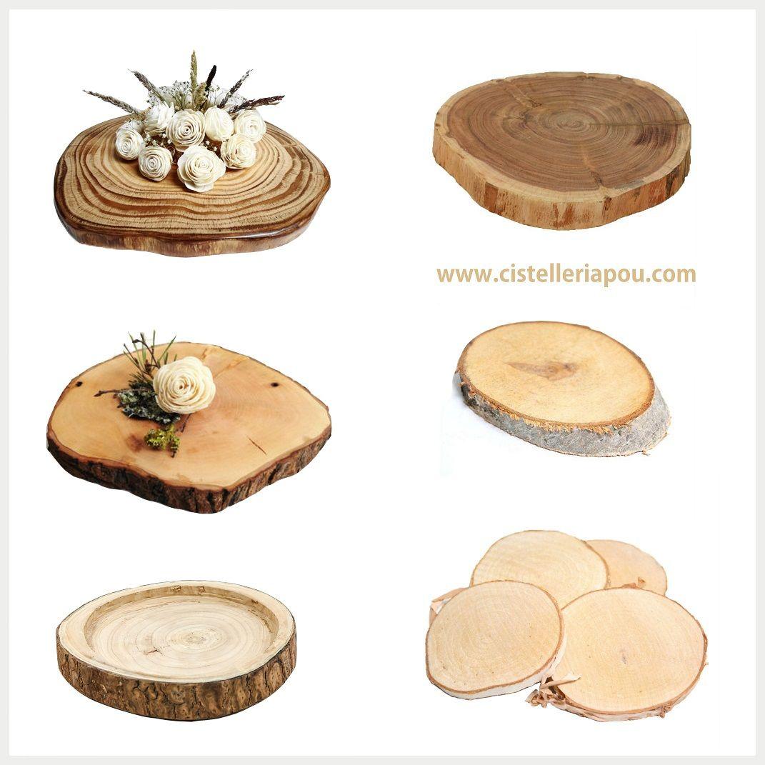 Base troncos de madera para centros de mesa nupcial nos - Decoracion troncos madera ...