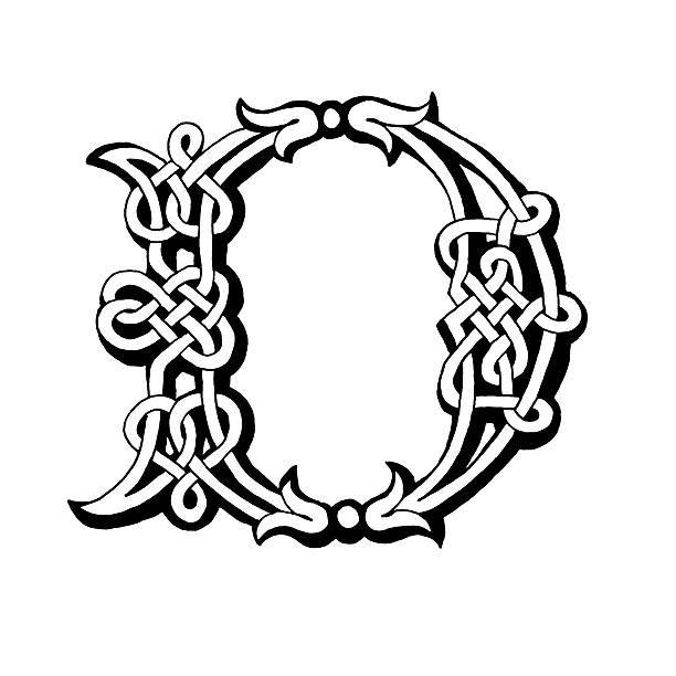 Celta letra D - ilustración de arte vectorial