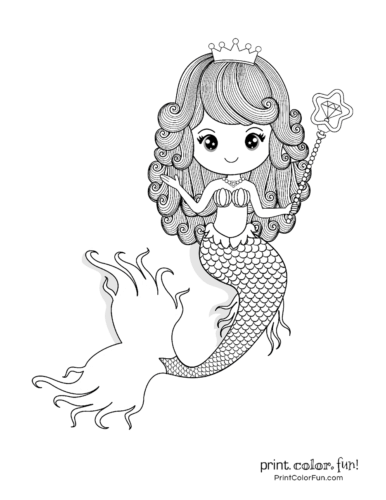 30 Mermaid Coloring Pages A Free Fantastic Fantasy Collection Of Printables Coloring Colori Mermaid Coloring Mermaid Coloring Pages Cute Coloring Pages