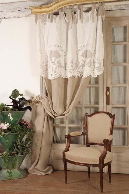 rideaux, rideau, brodés, voilages, voilage, brodé, brise bise ...