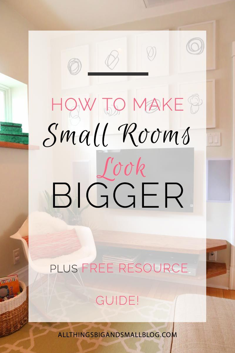 How to Make a Room Look Bigger | Small spaces, Spaces and Big
