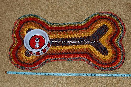 Dog Bone Rug Or Mat Pattern By Sara Sach Crochet Patterns Crochet Mat Crochet Rug