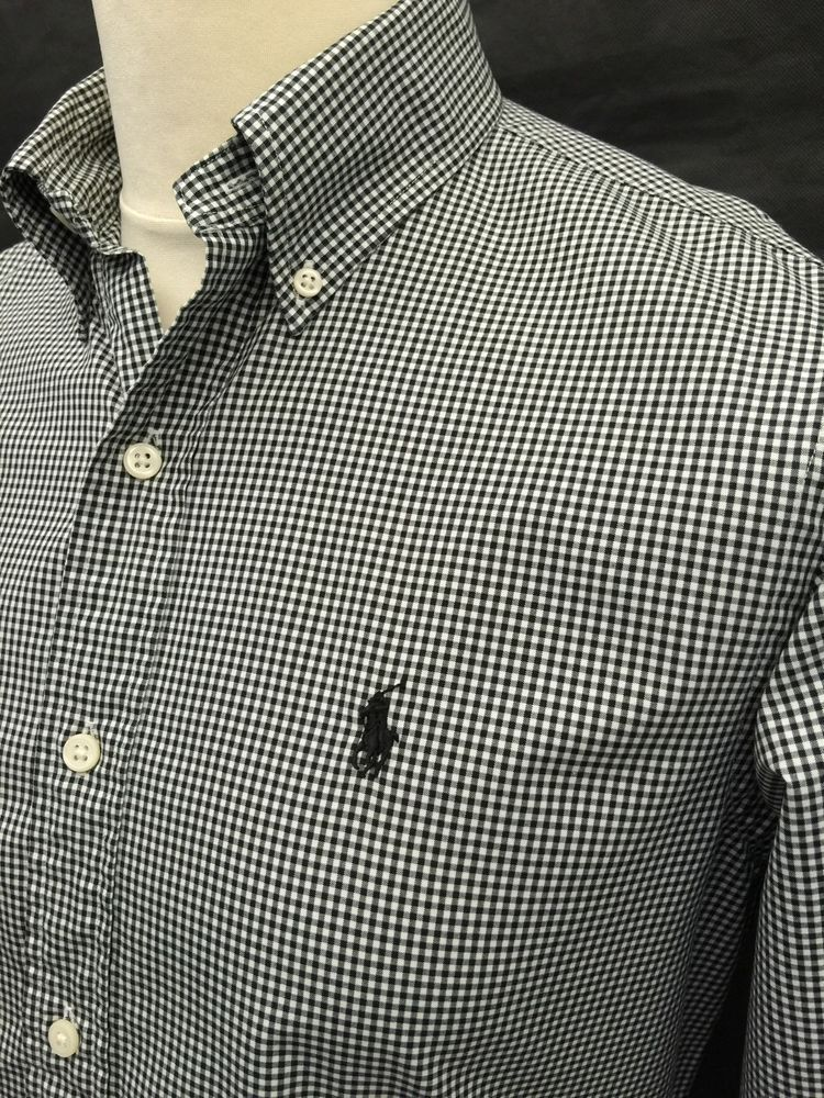 567dd596 Polo #RalphLauren #Mens #Shirt Small Custom Fit Black White #Gingham  #Checked Cotton #menswear #mensfashion #mensstyle