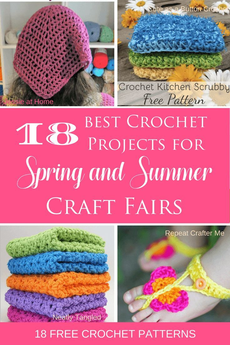 The Best Crochet Items For Spring And Summer Craft Fairs Crochet Craft Fair Crochet Projects To Sell Summer Crochet Patterns Free