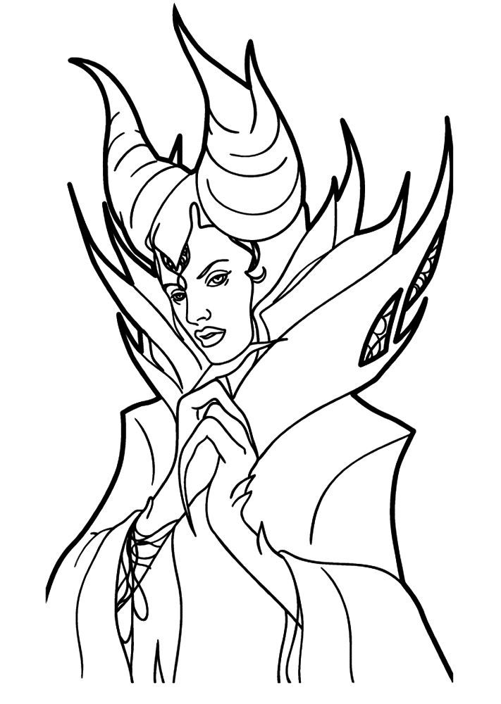 Coloring Page Maleficent Maleficent On Kids N Fun Co Uk On Kids N