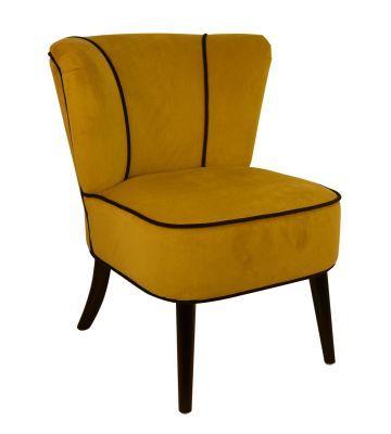 fauteuil crapaud jaune aspect velours fauteuil crapaud velours et fauteuils. Black Bedroom Furniture Sets. Home Design Ideas