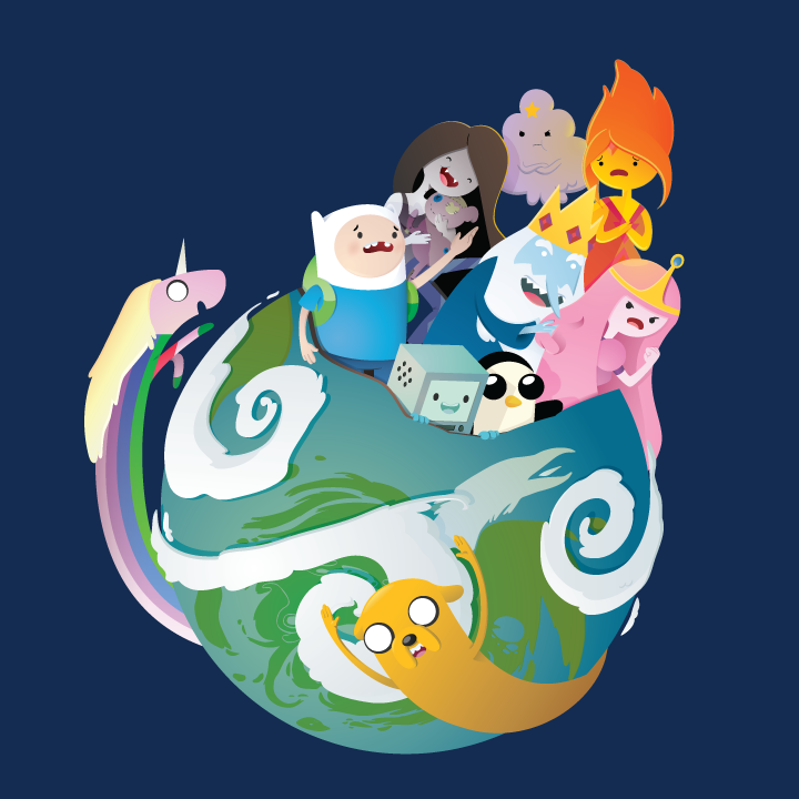 My submission to the Adventure Time tshirt contest for Mighty Fine. Please vote if you like it! https://contest.welovefine.com/vote.php?id_contest=56&id_submit=22964  Adventure Time: Brave New World by Sareidia.deviantart.com on @deviantART